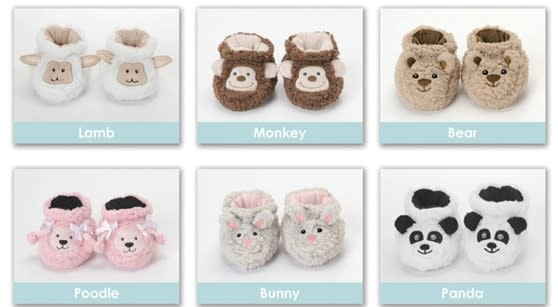 Snoozies Baby Sherpa Snoozie Slippers