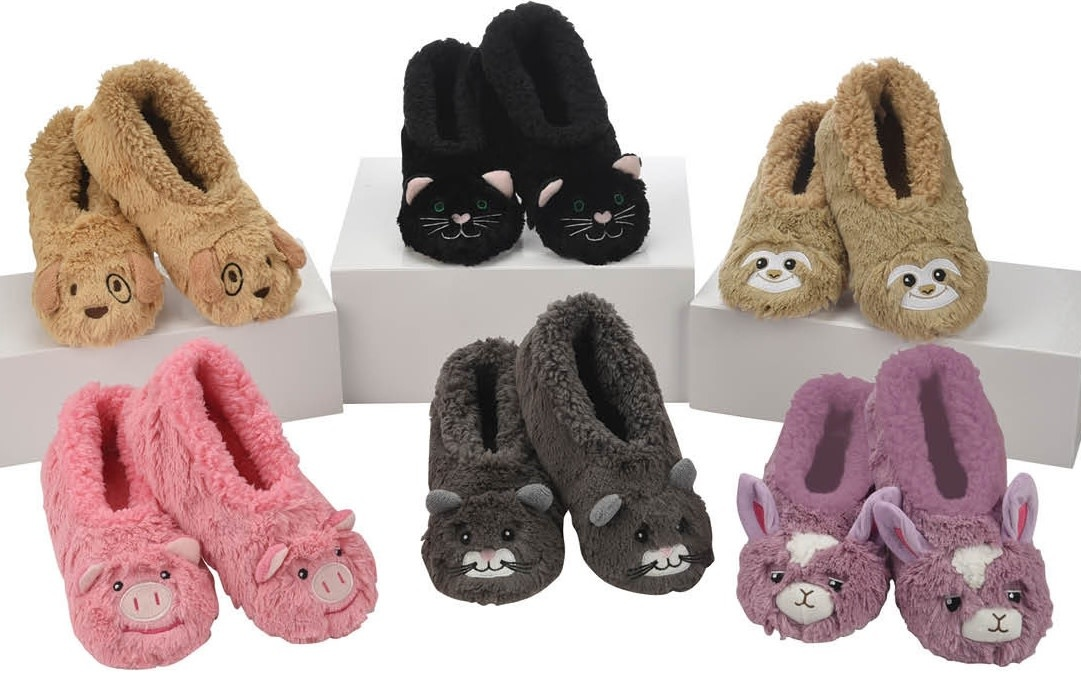 Snoozies Kids Furry Foot Pals Snoozie Slippers