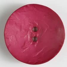 Dill Buttons 390175 Hot Pink Round Button 45 mm