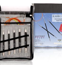 knitters pride Knitters Pride 1101 Karbonz Starter Interchangeable Set US 2.5-6