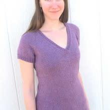 Bryson Top Down Vneck Short Sleeve Womens Pullover KPS-1303