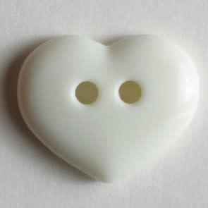 Dill Buttons 211452 White Heart button 15mm