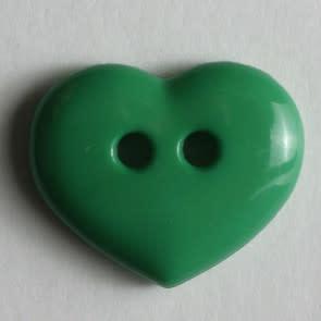 Dill Buttons 211454 Green Heart button 15mm