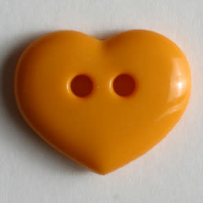 Dill Buttons 211457 Marigold Heart button 15mm