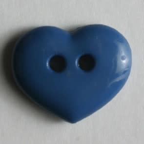 Dill Buttons 211481 Denim Blue Heart button 15mm