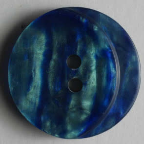 Dill Buttons 251151 Blue Turquoise Swirl button 18mm