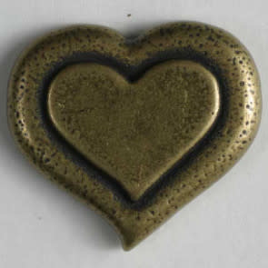 Dill Buttons 261044 Pewter Heart button 15mm