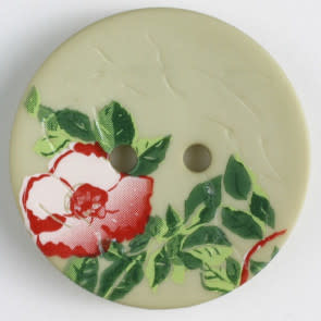 Dill Buttons 310847 Painted Flower 20mm Green