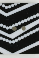 Dill Buttons BW Geometric Square 25mm 330768