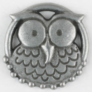 Dill Buttons 390302 Pewter Owl 25mm
