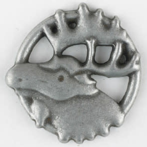 Dill Buttons 390300 Pewter Moose 25mm