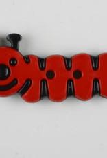 Dill Buttons 341121 Red Caterpillar 30mm