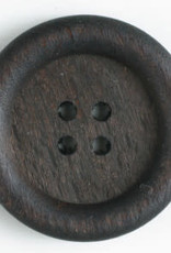 Dill Buttons 320485 BLACK WOOD 28MM