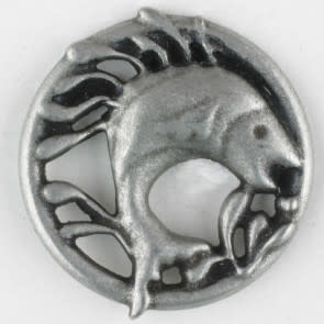 Dill Buttons 390303 Pewter Fish 25mm