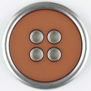 Dill Buttons 320650 Silver Rim Brown 20mm