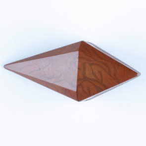 Dill Buttons 334702 BROWN PYRAMID 20MM