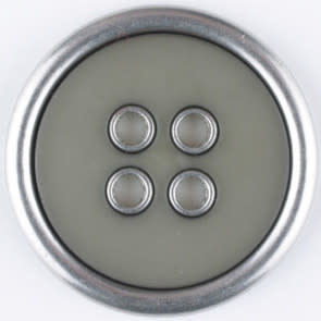 Dill Buttons 320651 Sage Metal Rim 20mm