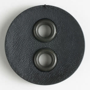 Dill Buttons 340828 Black Faux Leather 23mm