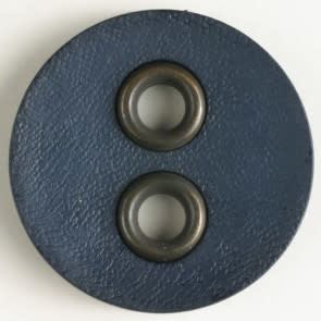 Dill Buttons 340830 Navy Faux Leather 23mm