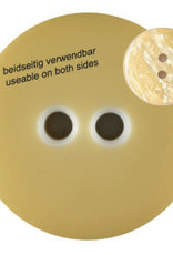 Dill Buttons 342815 Banana Yellow Reversible Button 23 mm