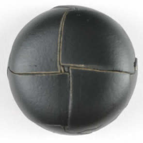 Dill Buttons 370288 Black Leather 18mm