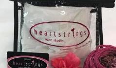 """HeartStrings Clear Vinyl Zipper Case 7.5"""" x 5"""" x 1.5"""""""