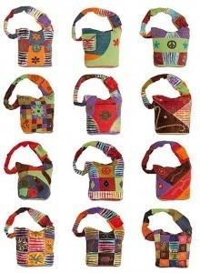 Fair Trade Retro Cotton Project Bag