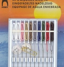 PONY Threaded Needle Sewing Kit