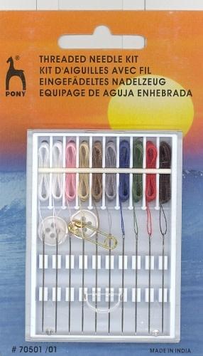 PONY Threaded Needle Sewing Kit
