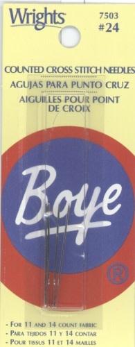 Boye 7503 Cross Stitch Needles #24