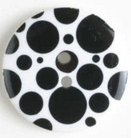 Dill Buttons Polka Dots 15 mm 222040 BLACK