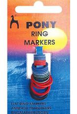 PONY Flat Ring Stitch Markers 24 pack Pony 60626