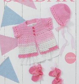 Hayfield 4920 Snuggly Pattercake Crochet Baby Cardigan