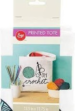 """Hooked on Crochet 13"""" Tote Bag"""
