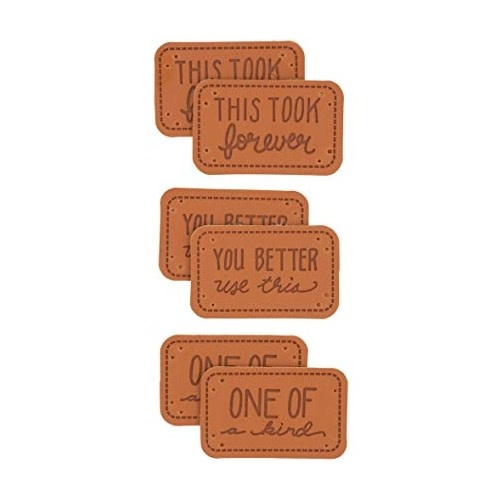 Made with Sarcasm Faux Leather Labels 6 pack
