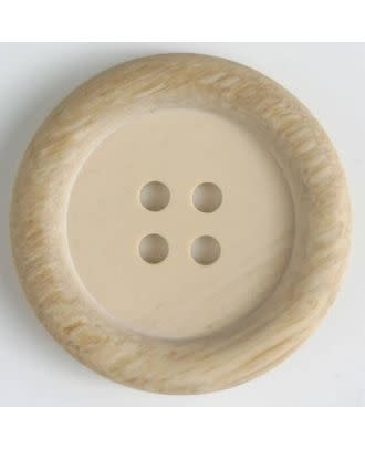 Dill Buttons 310565 FAUX WOOD 4 HOLE Button 18 MM