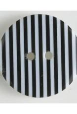 Dill Buttons 310661 Stripe 20 mm  Button Black