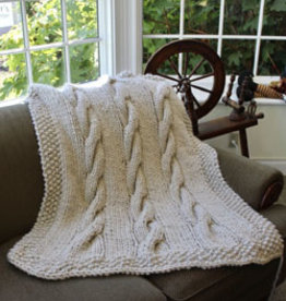 PLYMOUTH 3351 Plymouth Bay Cabled Blanket Pattern