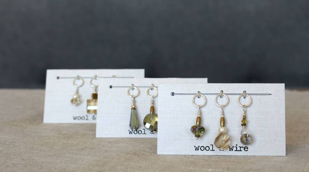 wool & wire Wool & Wire Stitch Markers set of 3
