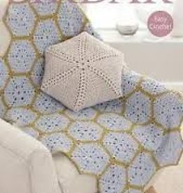 Sirdar 7817 Sirdar Hex Crochet Afghan & Cushion