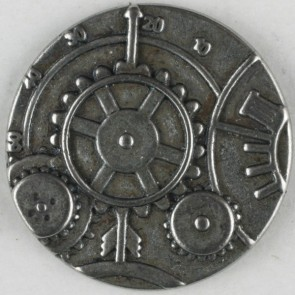 Dill Buttons 331074 Gears Metal Button 23 mm