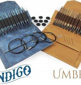 """LYKKECRAFTS Lykke Umber 5"""" INTERCHANGEABLE US 4-17 Needle Set Umber CASE"""