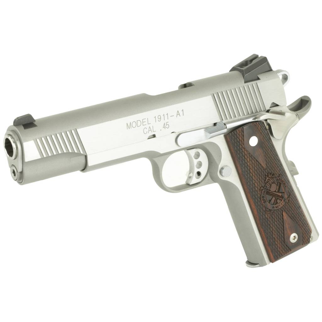 SPRINGFIELD SPRINGFIELD 1911 LOADED STAINLESS .45ACP 5""