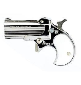 "COBRA ENTERPRISES COBRA ENTERPRISES .22LR DERRINGER CHROME WITH PEARL GRIPS 2.4"" BARREL"