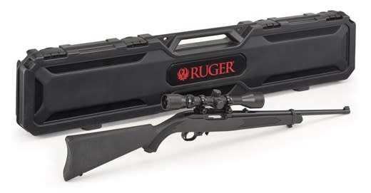 "RUGER RUGER 10/22 SYNTHETIC 18""  Weaver 3-9X40 with rings"