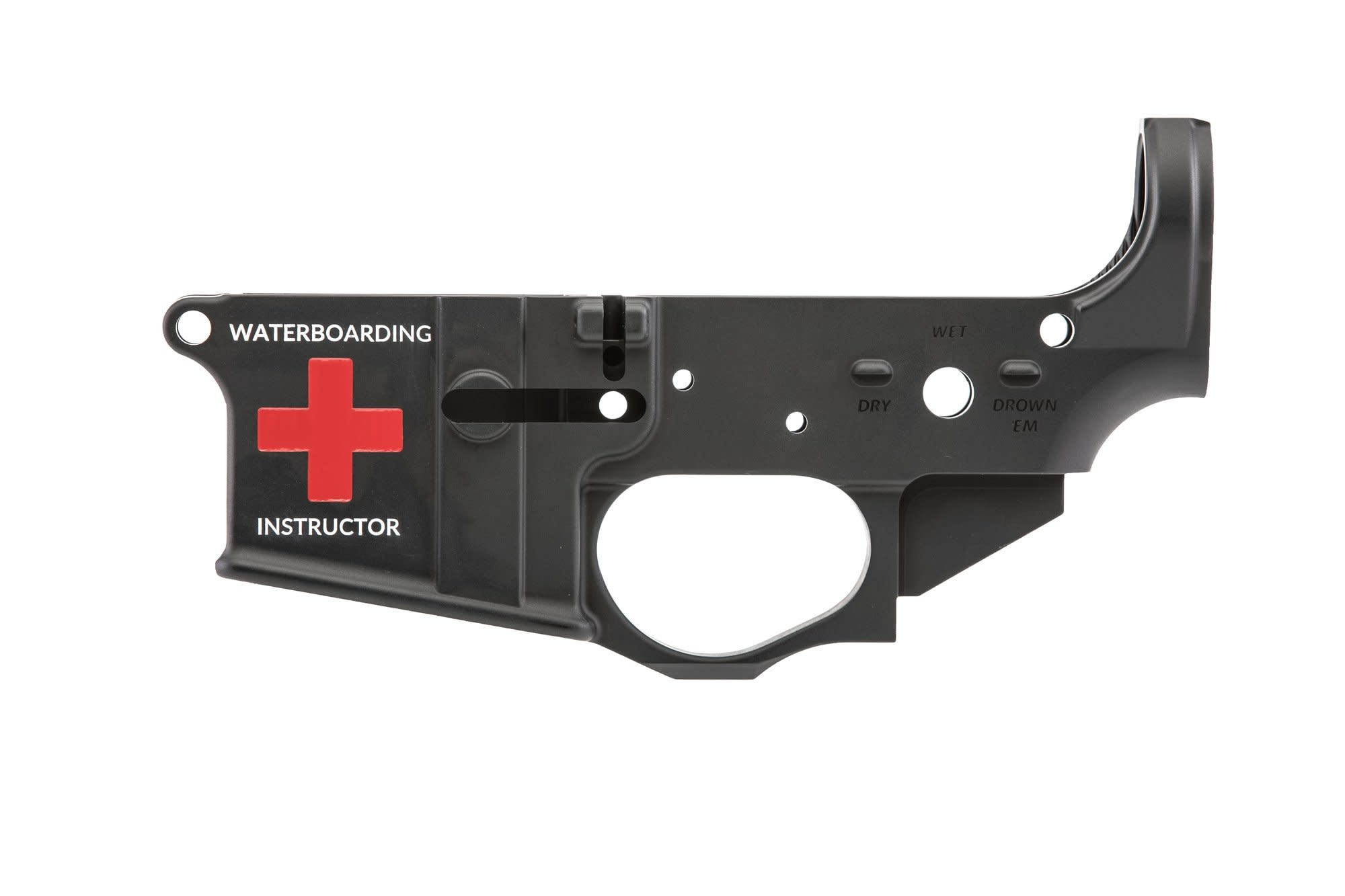 Spike's Tactical SPIKE'S TACTICAL WATERBOARDING AR15 LOWER RECEVIER STRIPPED BLACK WITH COLORFILL *LIMITED EDITION*