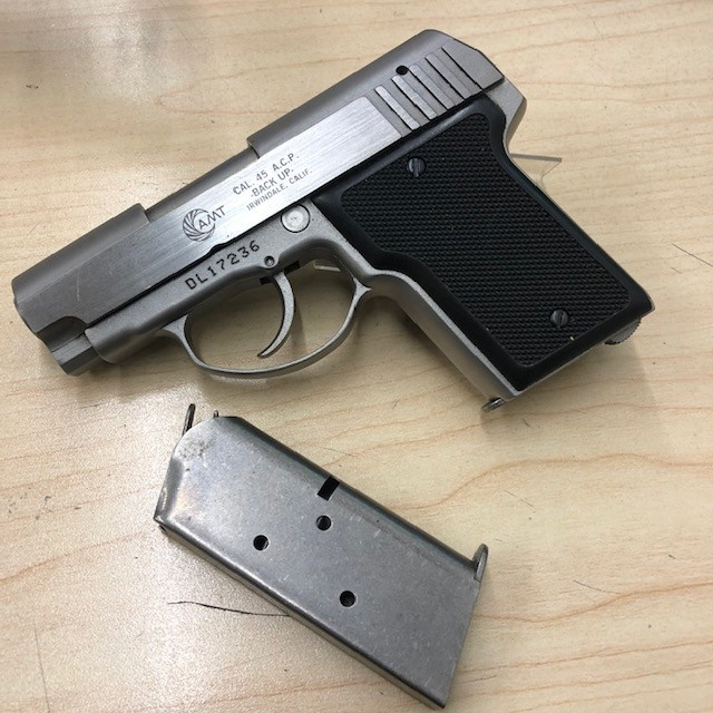"AMT CONSIGNMENT AMT BACK UP .45ACP 2"" 2 MAGAZINES"