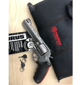 "TAURUS CONSIGNMENT TAURUS RAGING BULL .454 CASULL 6.5"" WITH ORIGINAL SOFT CASE, PAPERWORK AND HAMMER LOCK"