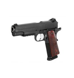 "SIG SAUER SIG SAUER 1911R .45ACP 5"" NIGHT SIGHTS, ROSEWOOD GRIPS, TAC RAIL 2 MAGAZINES"