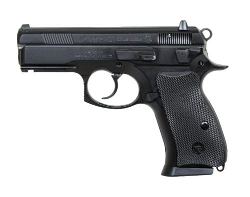 """CZ CZ 75 P-01 9MM 3.7"""" BLK DL 2-10RD"""